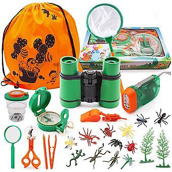 SPECOOL Kinder Fernglas Spielzeug Set, Draussen Forscherset Kit Abenteuerspielzeug fr Kinder mit