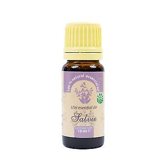 Salvia eteerinen öljy (Salvia officinalis), 100% puhdasta ilman lisäystä, 10 ml