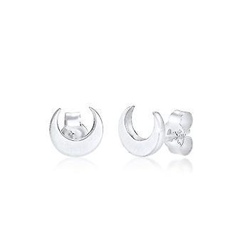 Elli Moon Basic Crescent Earrings in Sterling Silver9 25 Matte Gold for Women(2)