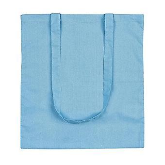 eBuyGB - Canvas shopping bag and beach, 10 pieces, 42 cm, Blue - 1205812-10a