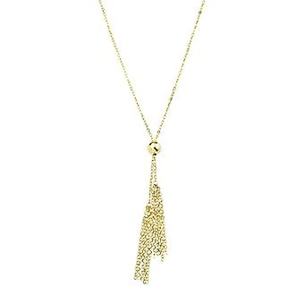 amor Halsband med kvinnohänge, i guld 375, med tofs