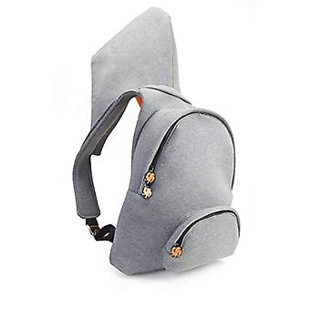 MorikukkoMorikukko Hooded Backpack Grey Neon OrangeUnisex - AdultGrigio (Grey Neon Orange)33x8x40 Centimeters (W x H x L)