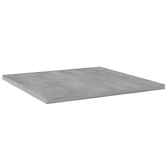 vidaXL estanterías 8 piezas. hormigón gris 40x40x1,5 cm aglomerado