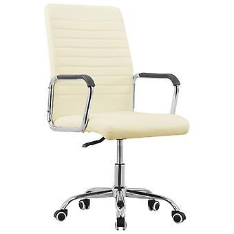 vidaXL bureaustoel draaibare crème stof