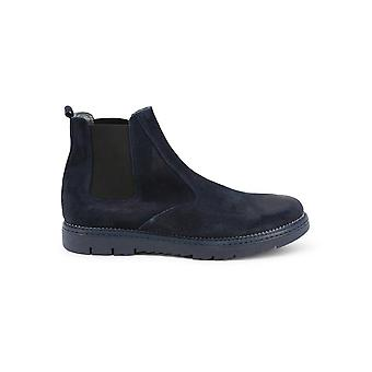 Duca di Morrone - Shoes - Ankle Boots - 401D-CAMOSCIO-BLU - Men - navy - EU 44