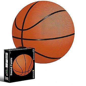 Basketball 1000 piece puzzle for adults and children- earth and moon 3d visual puzzles az6178