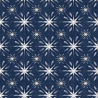 Galerie Stars Pattern Navy Wallpaper