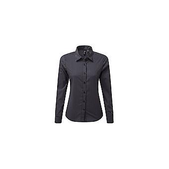 Premier Women's Maxton Check Long Sleeve Shirt PR352