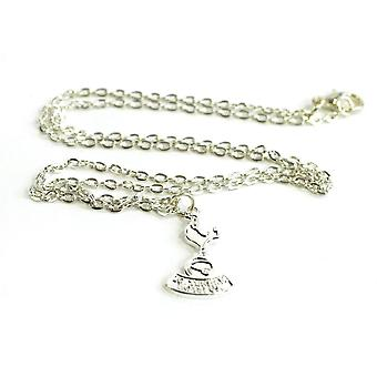 Spurs Silver Plated Crest Pendant and Chain