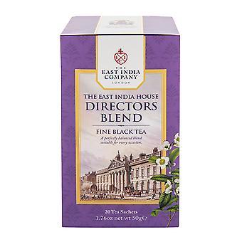 חברת הודו המזרחית - תערובת תה שחור של מנהל בית הודו המזרחית (20 שקיקי תה שקית בודדים)