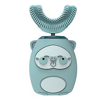 S الأزرق الاطفال التلقائي للماء ش على شكل فرشاة أسنان السيليكون فرشاة الأسنان الكهربائية الصوتية تعيين dt5411