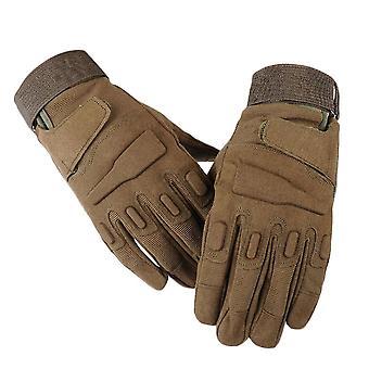 Dark green xl full finger plus velvet non-slip wear-resistant gloves homi2477