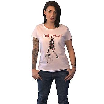 Yungblud T Shirt Strawberry Lipstick Logo new Official Womens Skinny Fit White