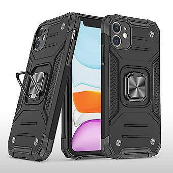 Cover Case For Iphone 11 With Ring Magnetic Car Mount Kickstand Black