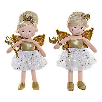 Rag Doll DKD Home Decor Fairy (2 pcs) (23 x 10 x 45 cm)