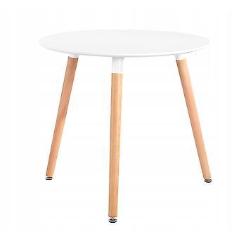 Køkkenbord spisebord spisebord rundt - 80 cm - hvid - 3 ben