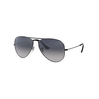 Ray Ban Rb3025 004/78 58 Aviator Store metal gunmetal grå og blå solbriller