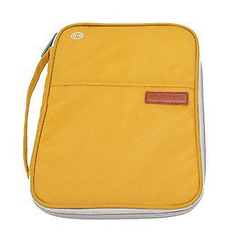 Přenosná cestovní pasová taška, řidičský průkaz, držitel jízdenky (tmavě žlutá)