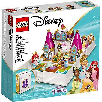 LEGO 43193 Ariel, Belle, Tuhkimo ja Tianan satukirjaseikkailut