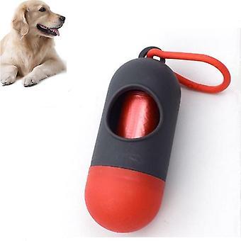10 PCS suministros portátiles de limpieza para mascotas píldora cajas de basura inodoros para perros (Colorblock Gray)