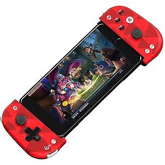 Cronrous Mobile Gaming Controller, Bluetooth Gaming Controller, Wireless, Joystick Gamepad para Celulares Android iOS, Leve e Portátil (vermelho)