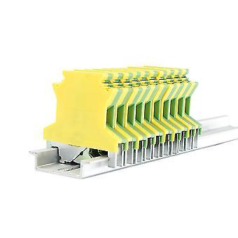 10 stuks 2.5n Din Rail Terminal blokken grond universele connector schroef