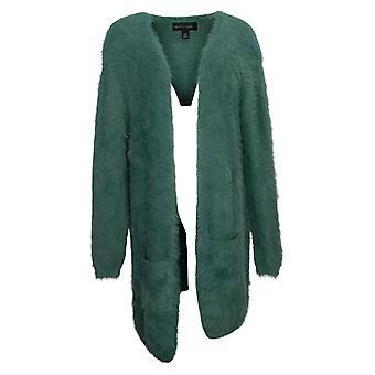 Collen Lopez Women's Sweater Reg Nylon Cardigan Green 671569