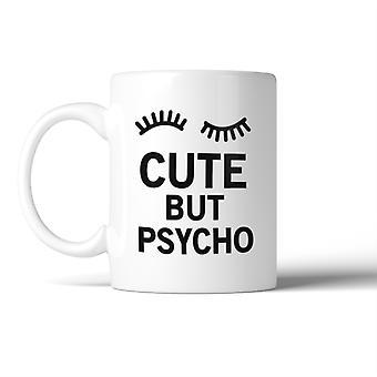 Mignon mais Psycho Mug tasses à café en céramique cadeau pour Noël anniversaire