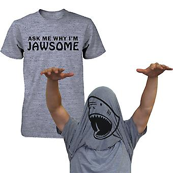 Kysyä, miksi olen Jawsome läppä ylös t-paita paidat April Fool's Halloween