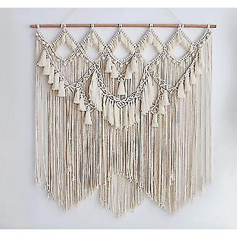 Home decor decals 90*100cm large bohemian tapestry wall hanging chic art boho home decor handmade woven macrame
