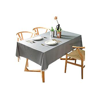 Computer racks mounts pvc waterproof tablecloth oil proof and wash free rectangular table cloth grey 140*300cm