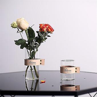 Nordic chic multifunktionell glas lagring arrangör burkar (Brun)