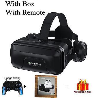 Vr shinecon 10.0 kypärä 3d lasit virtuaalitodellisuus casque älypuhelin älypuhelinlasit kuulokkeet