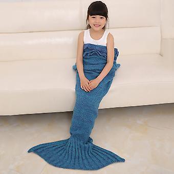 Pashmina-ähnliche gestrickte warme Meerjungfrau Schwanzdecke 140 * 70/180 * 90cm Wrap Coverlet