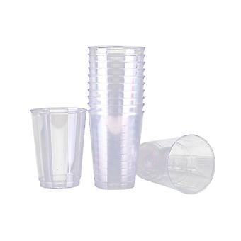 30pcs أكواب بلاستيكية القابل للتصرف شفافة سميكة كأس الشرب لوازم حزب أدوات المائدة لمقهى بار مطعم (200ml كأس مستقيم)