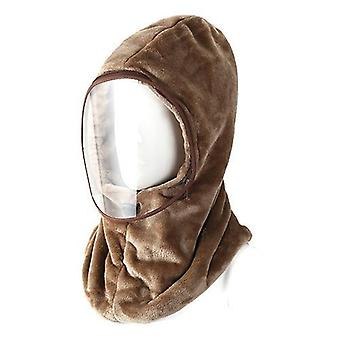 New Thickened And Warmed Overhead Cap Protective Face Shield Neck Collar Integrated For Men And Women