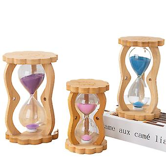 5/10/15 Minutes 3pcs New Color Quicksand Wooden Gourd Shaped Hourglass Timer Creative Home Decoration Trinkets