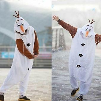 Olaf Frozen Adult Snowman Costume Kigurumi Pajamas Cosplay