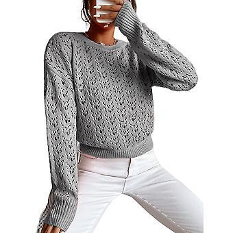 Women Autumn Round Neck Pullover Long Sleeve Sportswear T-shirt