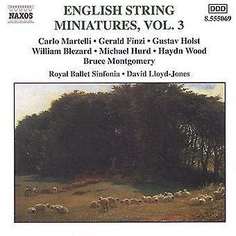 English String Miniatures - English String Miniatures, Vol. 3 [CD] USA import