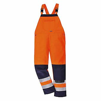 Portwest - Texo Girona Workwear Uniform Contrast Hi-Vis Safety Bib & Brace
