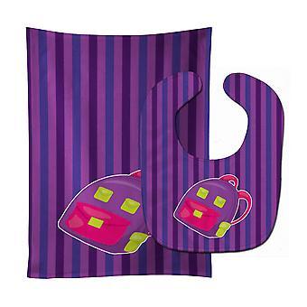 Carolines Treasures  BB8866STBU Back to School Backpack #1 Baby Bib & Burp Cloth