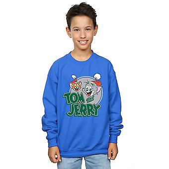 Tom et Jerry Boys Christmas Greetings Sweatshirt