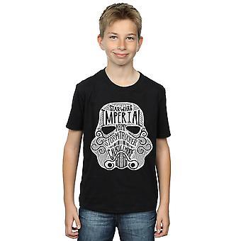 Star Wars Boys Stormtrooper Empire Helmet T-Shirt