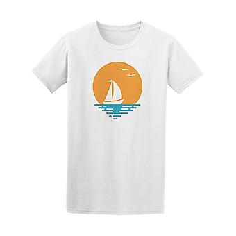 Boat And Sun Beach Ocean Graphic Tee - Image by Shutterstock