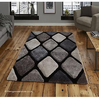 Melio sort grå tæppe