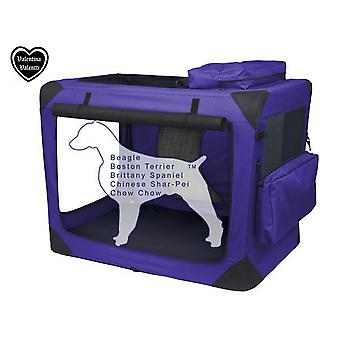VALENTINA VALENTTI PET PLIANTE TRANSPORTATOR TRANSPORT SOFT CRATE MARE PURPLE V8