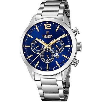 שעון של festina גברים הכרונוגרף נצחית F20343-2