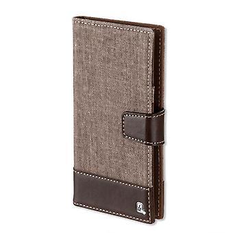 Universele case flip tas UltiMAG MILANO 5.2 inch deksel zaak Brown