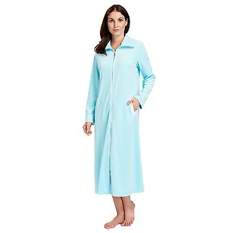 Féraud 3883036-10011 Women's Lagoon Blue Cotton Bornoz Salon Elbise